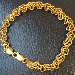 Jewelry - 14k Gold over silver bracelet made in Italy